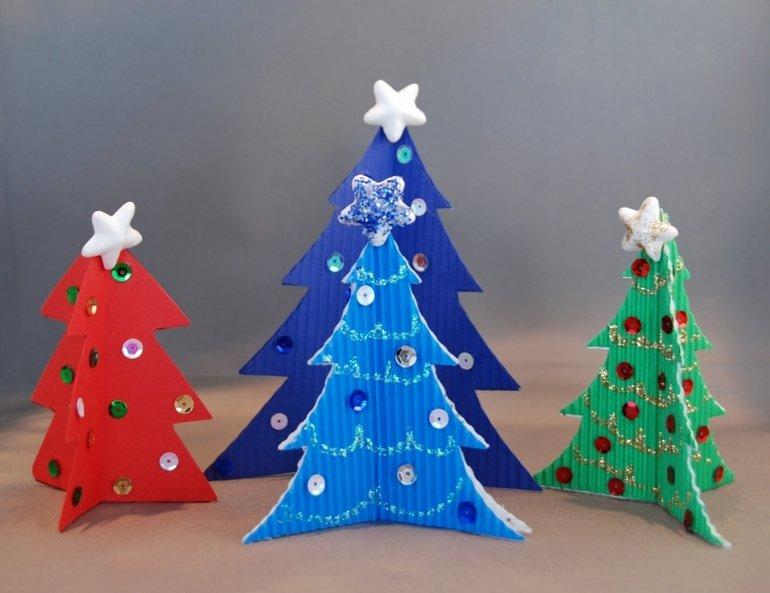 Картинки из бумаги и картона своими руками на новый год