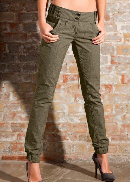 Купить брюки женские с резинкой внизу