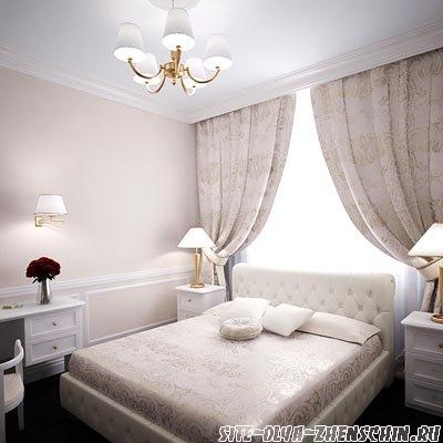 Оформление спальни обоями и выбор цветового решения комнаты. Выбор штор для окон и материала отделки стен в спальне.