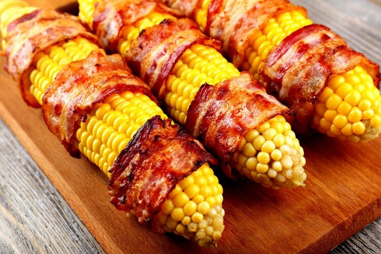Кукуруза с беконом