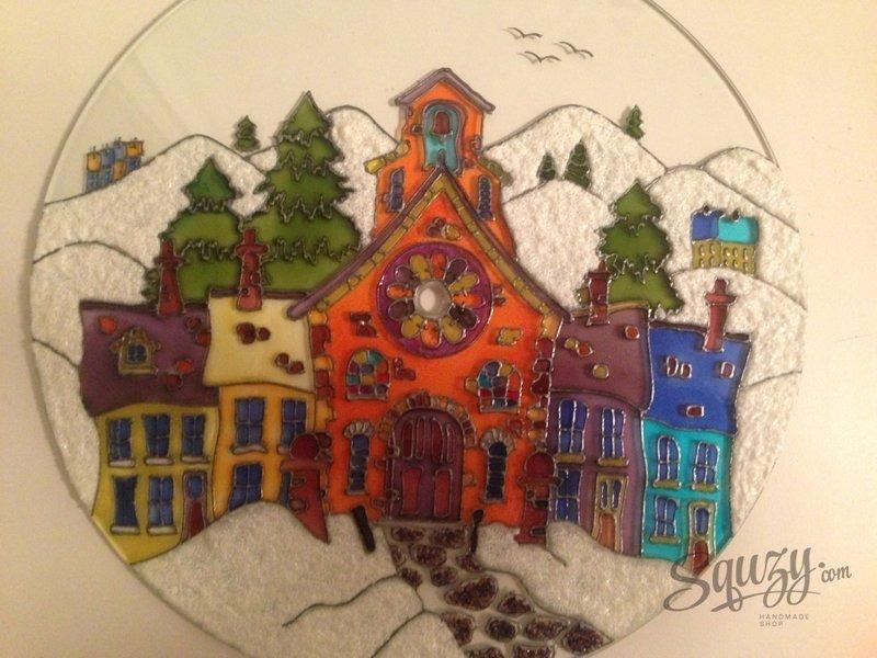 Мастер-класс по витражной росписи: создаем интерьерные часы своими руками.. Доброго времени суток, любители и почитатели творчества. Моей страстью за очень короткое время стала витражная роспись. Кто еще не знаком