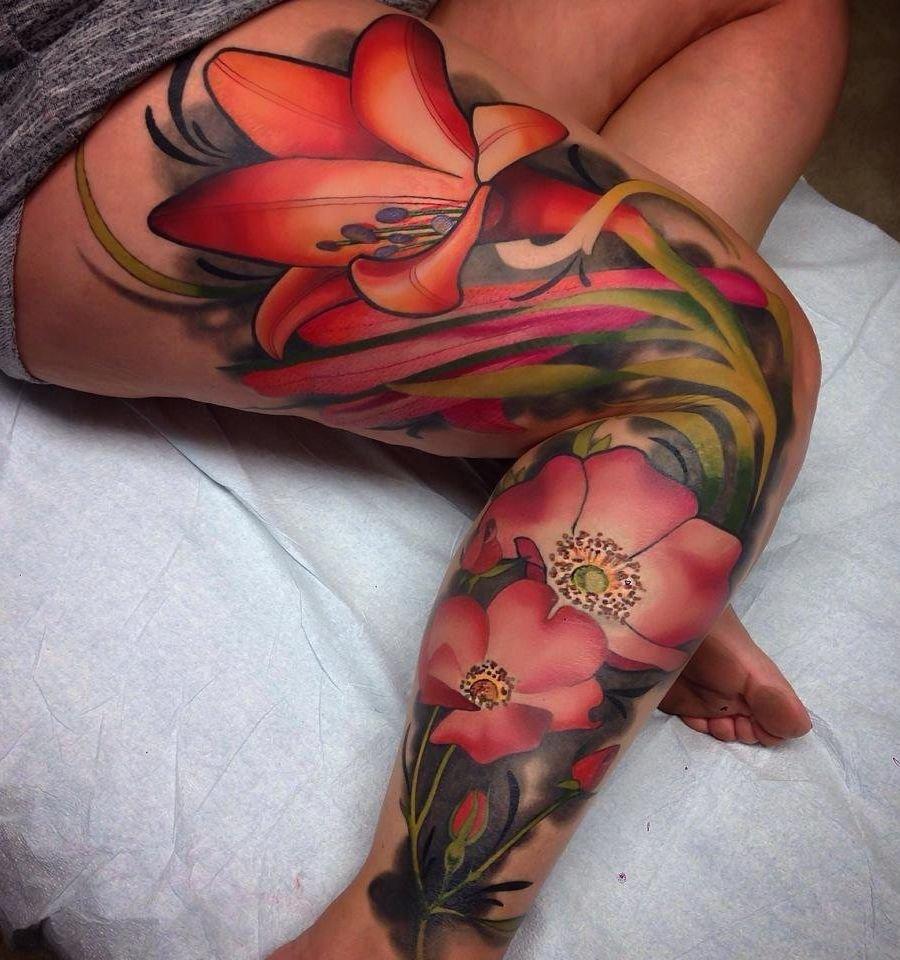 imagenes de tatuajes para mujeres de flores