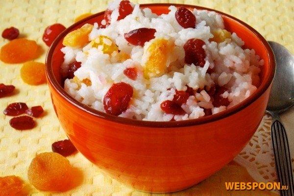 Каша рисовая с фруктами фото с рецептом