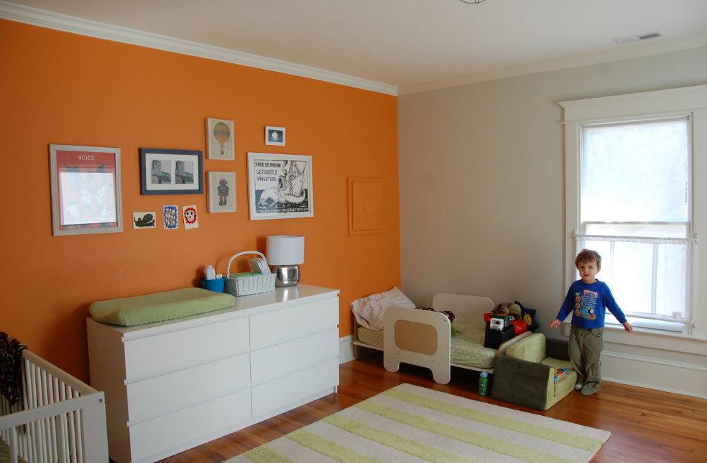 оранжевый цвет в интерьере детской лучше заранее обратиться