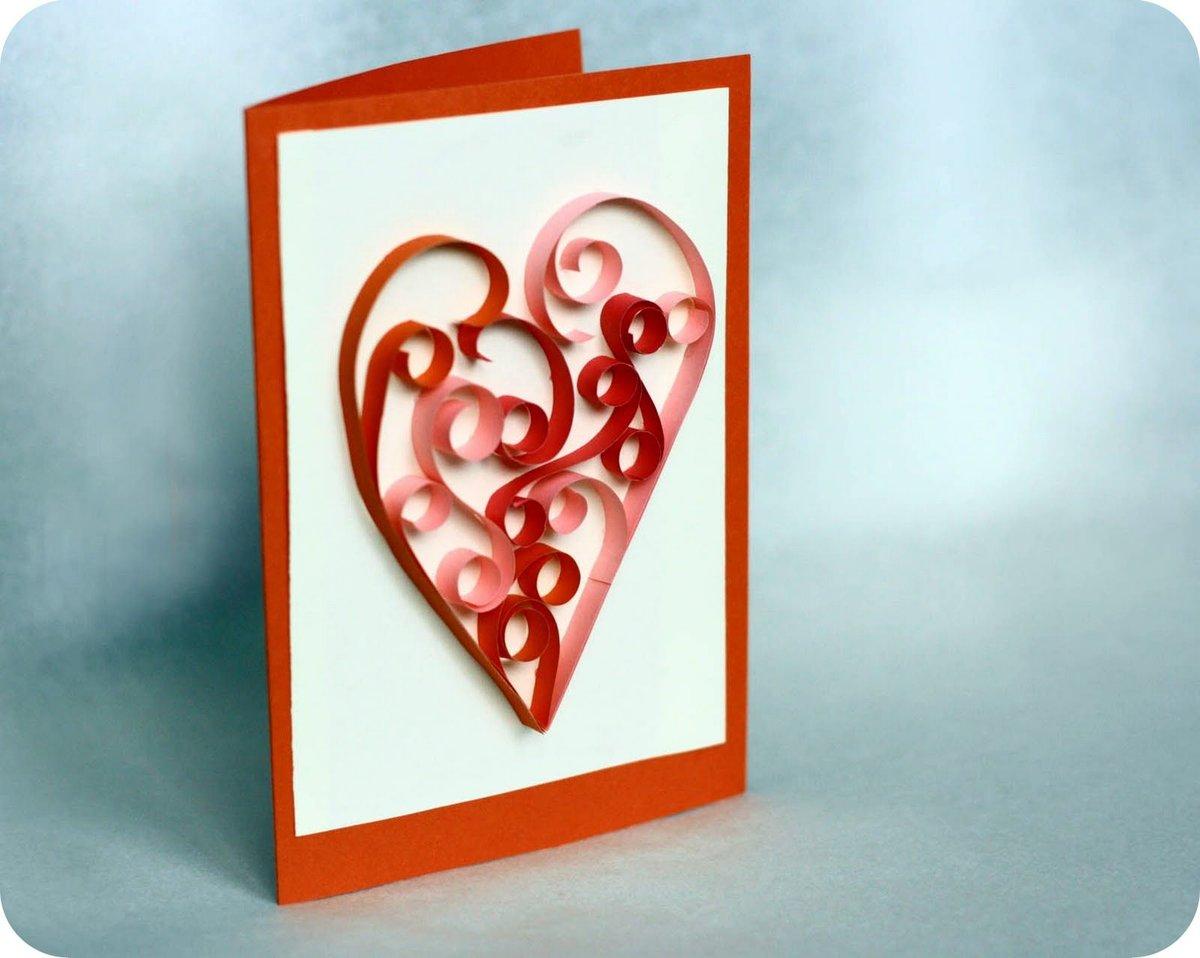 Открытки новым, сделай сам открытка с сердечком