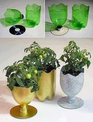 вазочки с бутылок