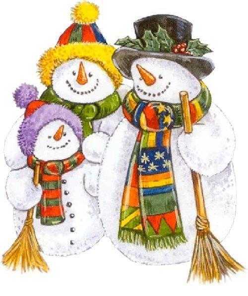 Из пушистого снежка Я леплю снеговика: