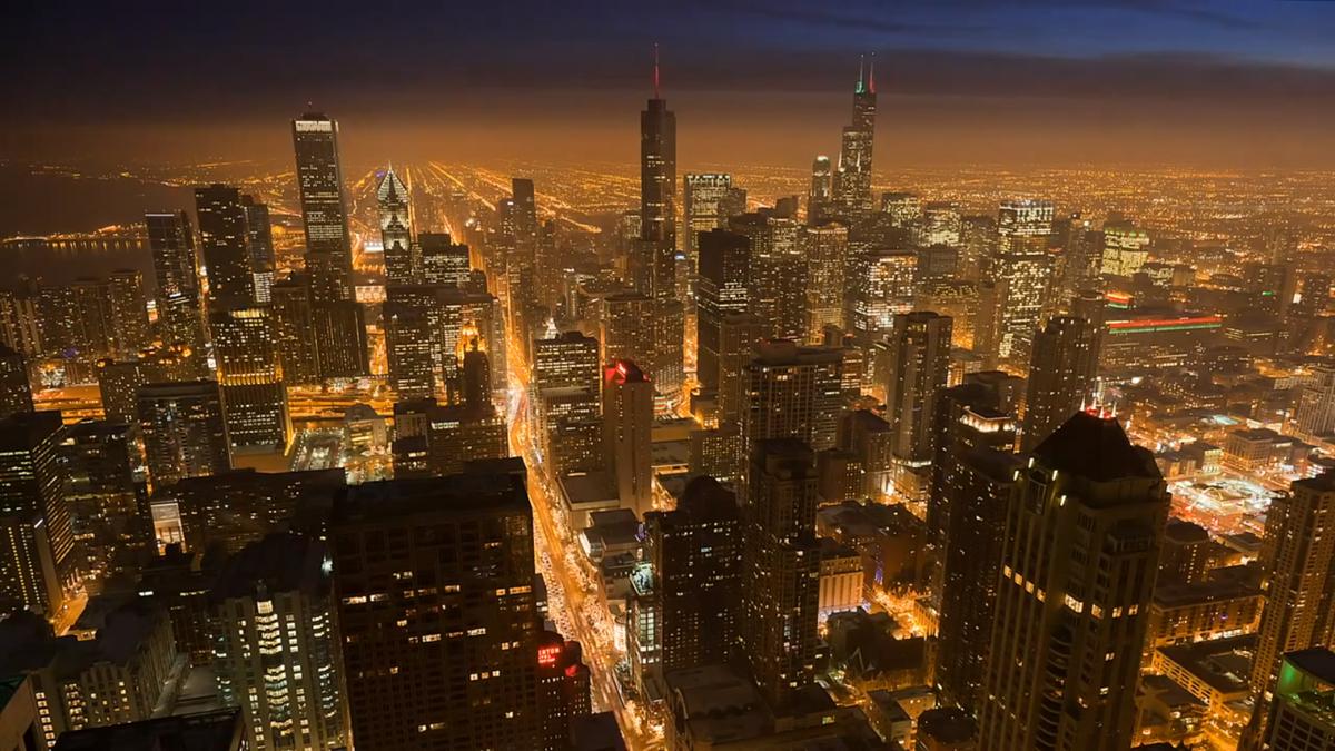 Анимационные картинки ночные города