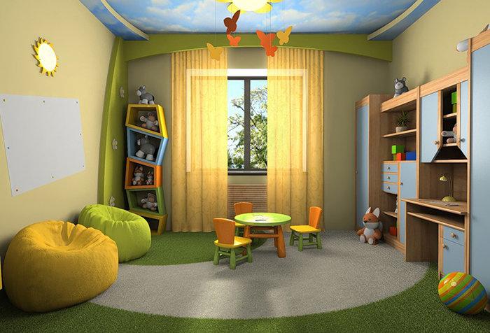 Желтые шторы в детской. Желтая гамма в интерьере дома