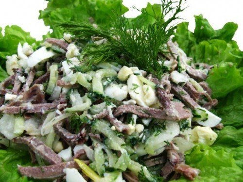 Какие салаты можно приготовить из языка