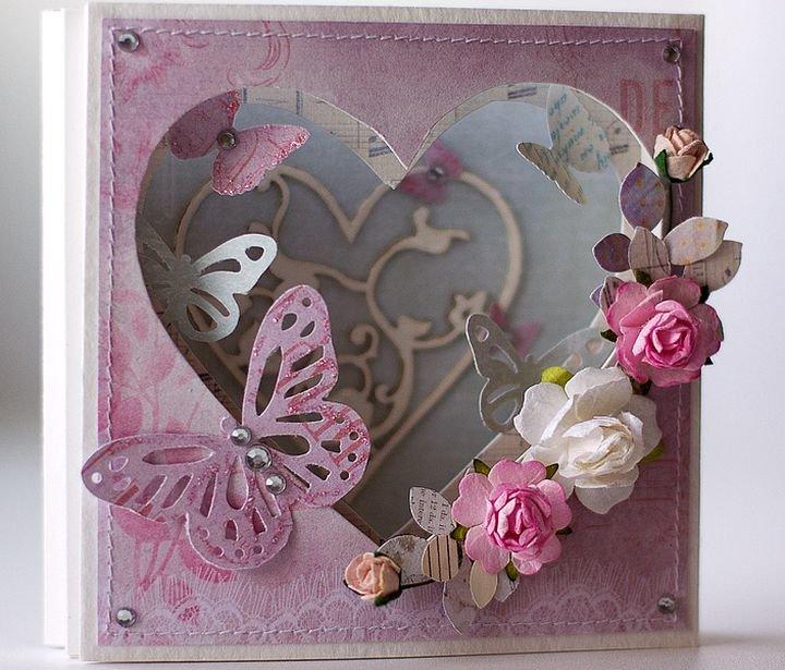 Скрапбукинг открытки день святого валентина