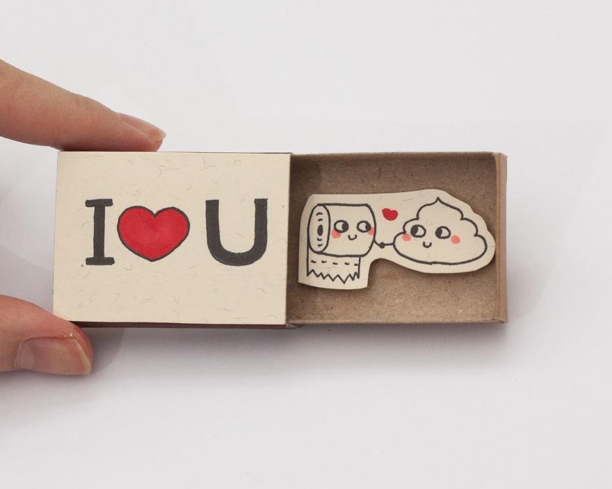 Днем рождения, открытки спичечные коробки