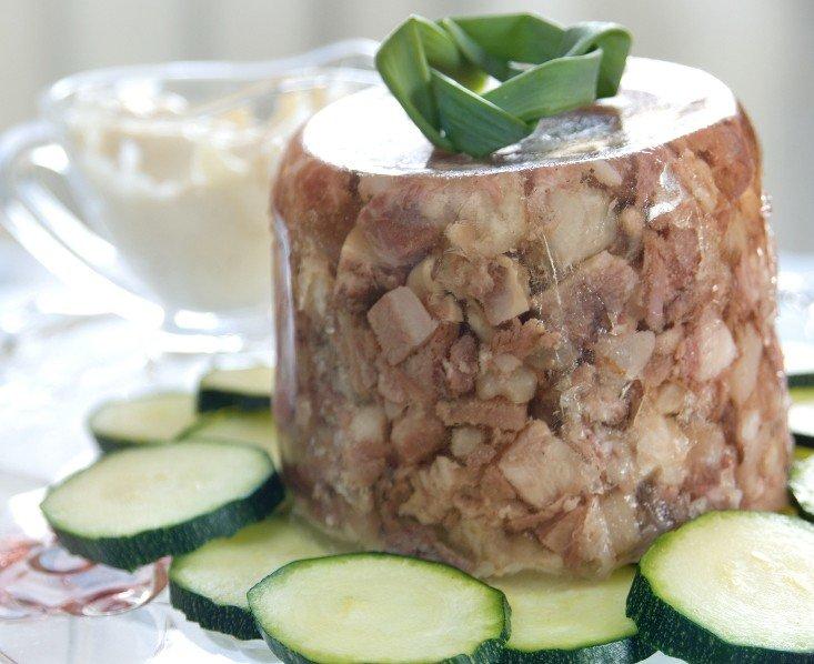 Ингредиенты на холодец из говядины