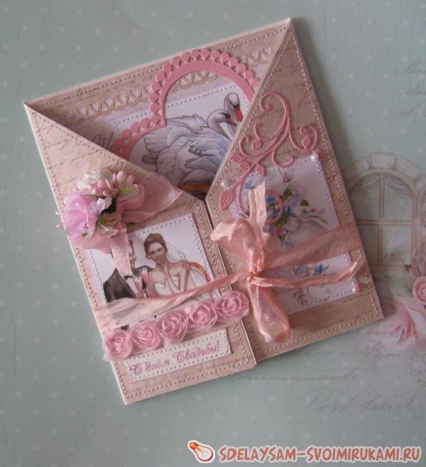 Свадебная открытка скрап с фото, картинки яковлевой