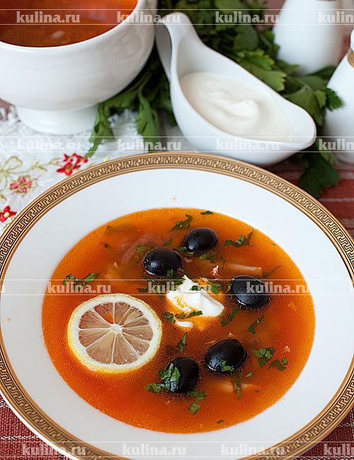 Солянка с морепродуктами рецепт с фото