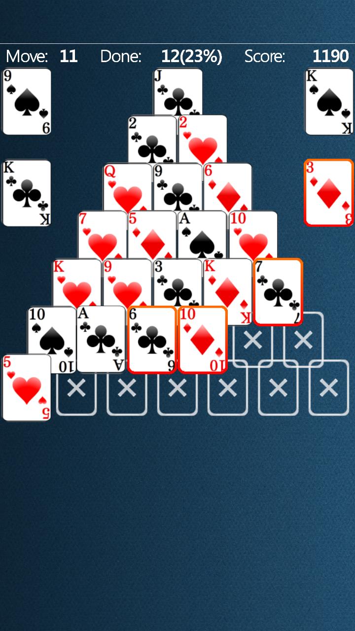 Пирамида карточная игра