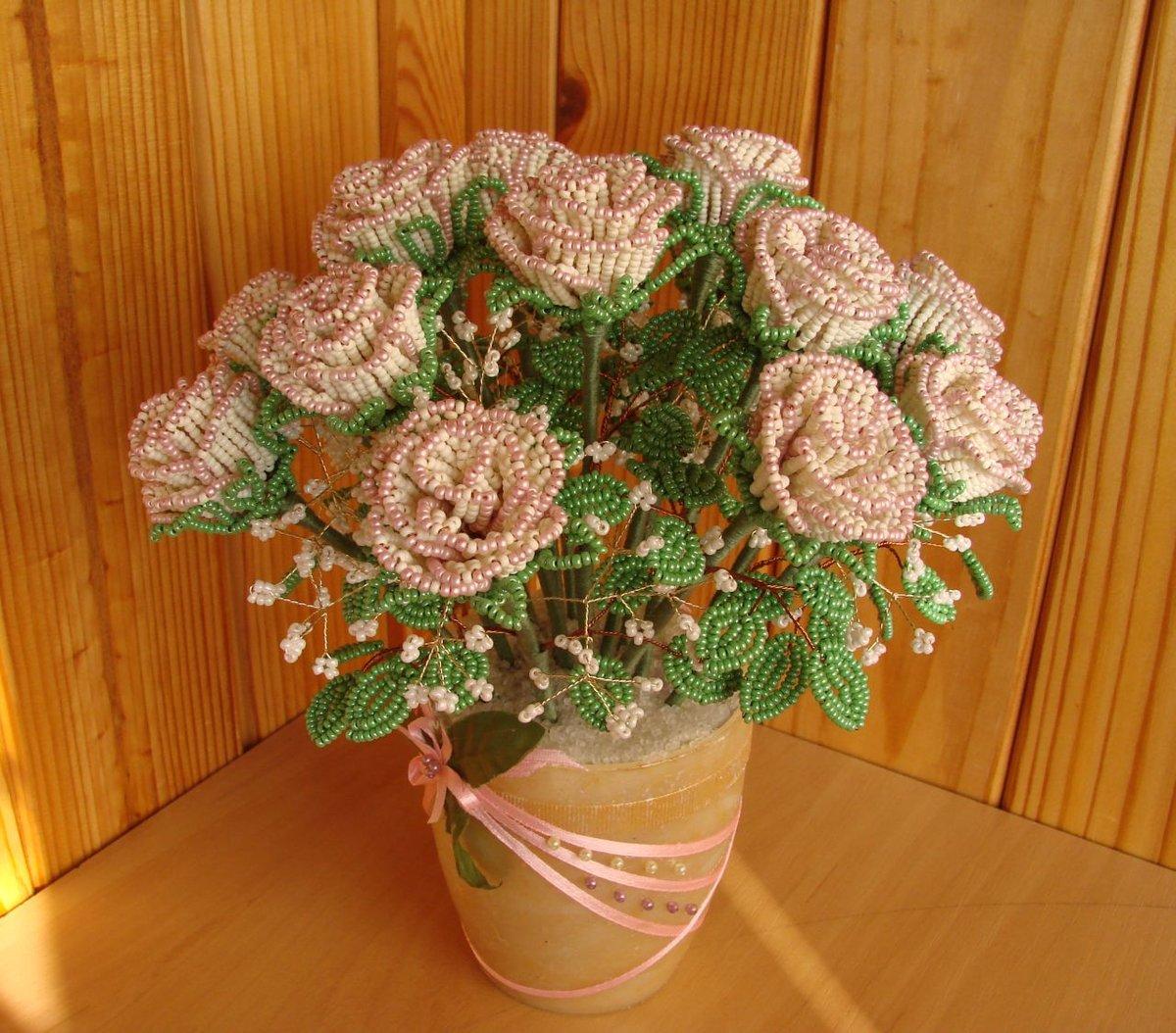 Букет роз из бисера своими руками, букеты