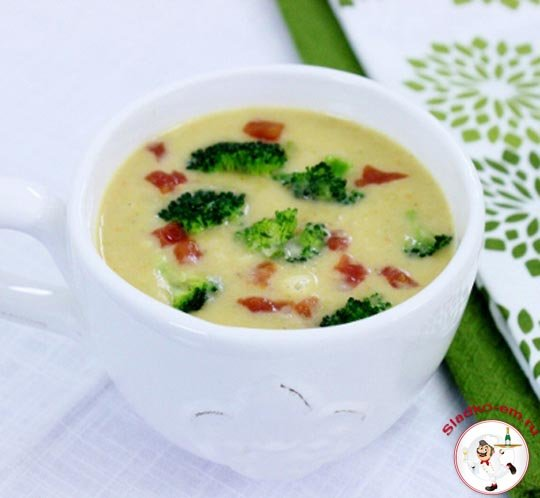 Пряный суп с брокколи