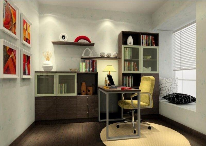Дизайн маленького кабинета классический