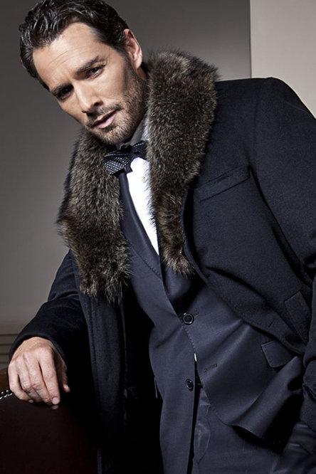 Мужские пальто на меху