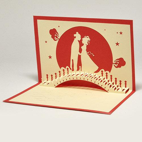 Обьемная открытка из открытки