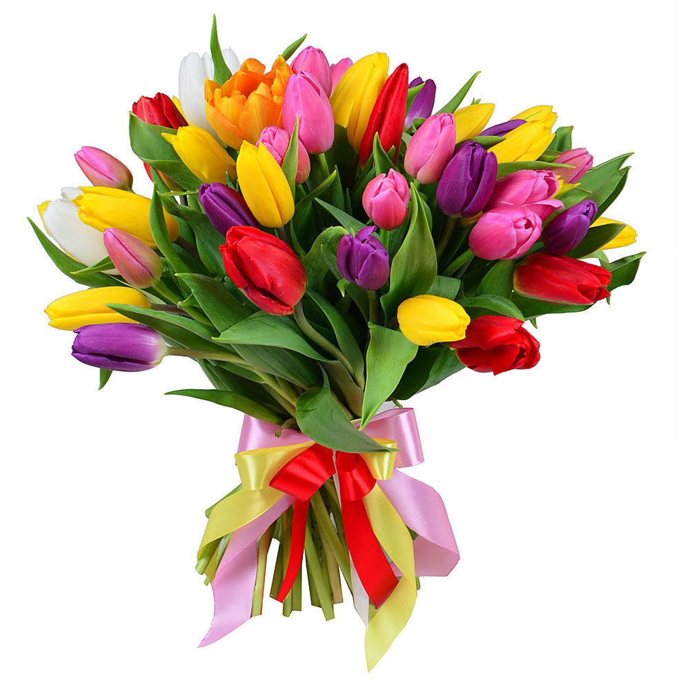 Букеты цветов из тюльпанов, доставка