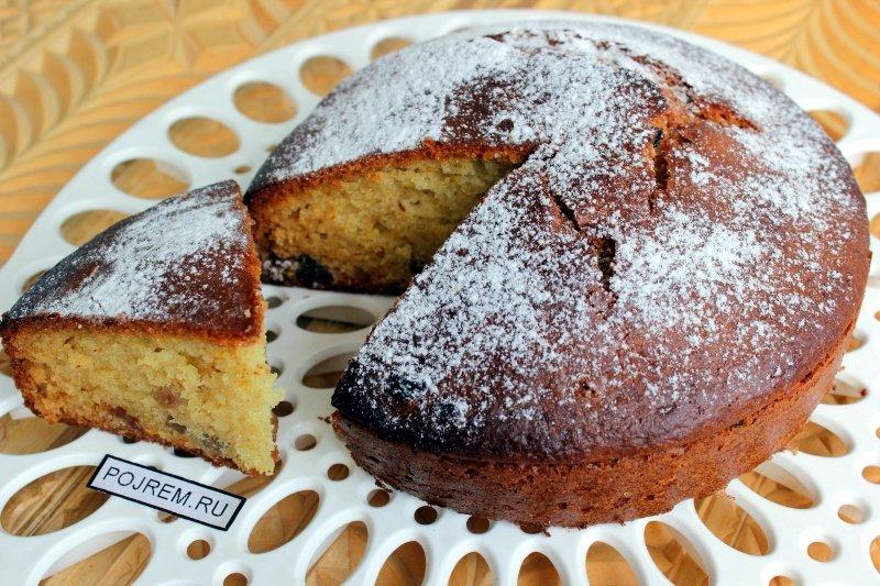 Пирог с изюмом на кефире рецепт