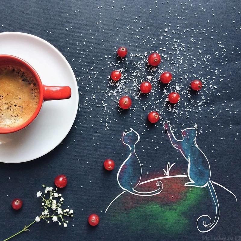 Песочные, креативные открытки с добрым утром и хорошего дня