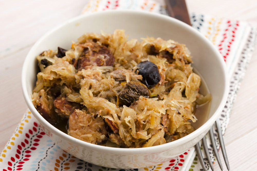рецепт капуста тушеная с черносливом