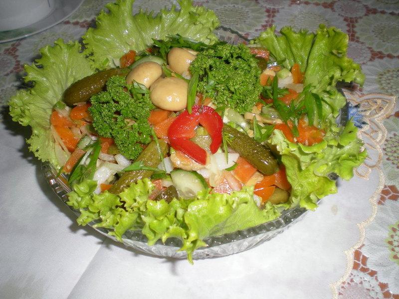 Рецепты салатов овощные с фото