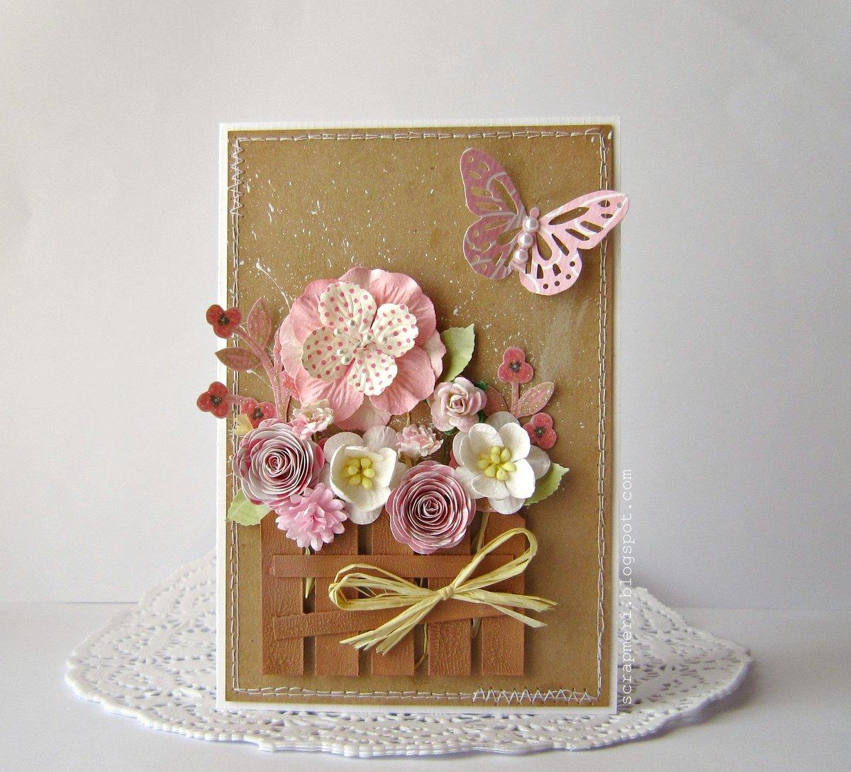 открытка своими руками цветы для вас оснащены комфортабельной