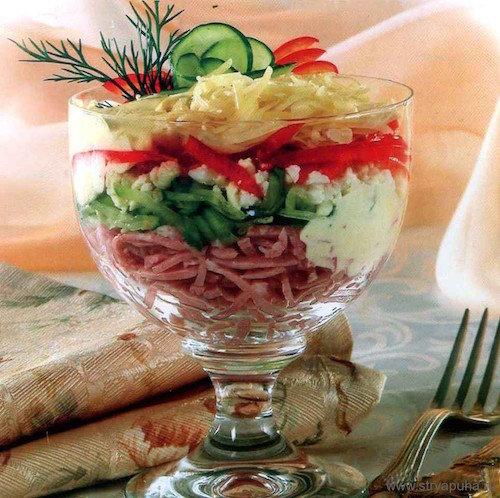 Салат коктейль с ветчиной с фото