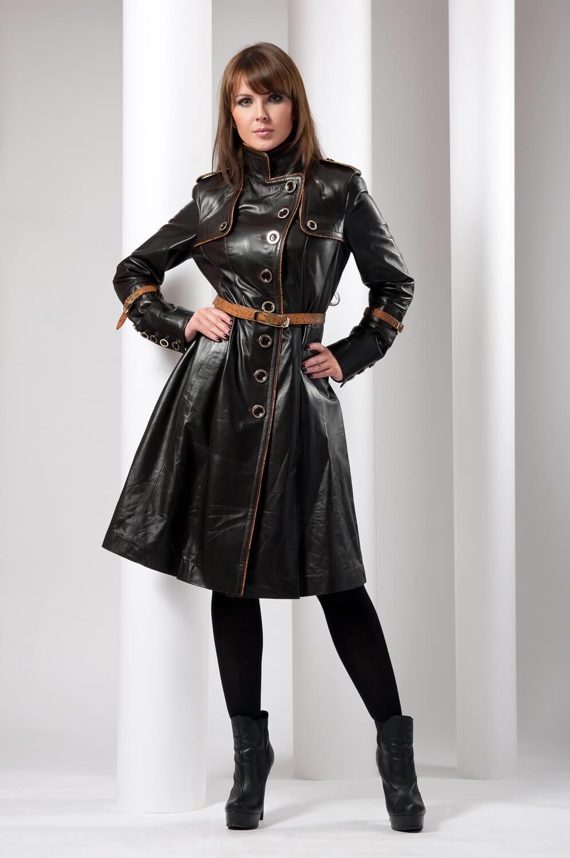 Оригинальные кожаные пальто фото