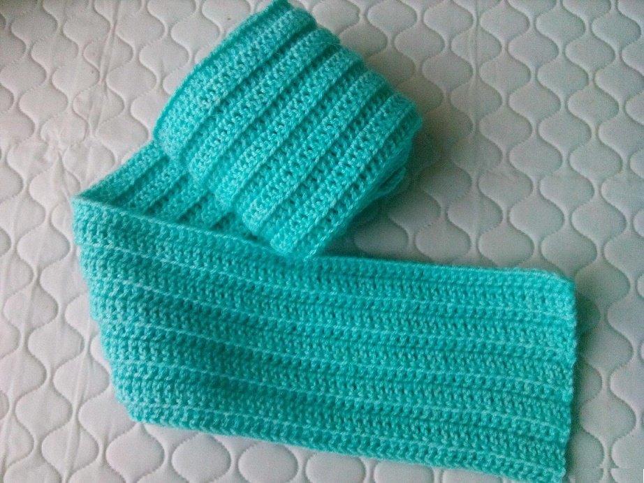 шарфик для мальчика крючком воврмя вязания шарфов крючком не стоит