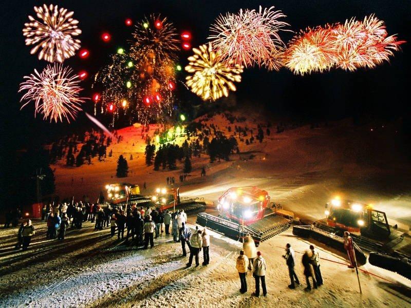 Новый год в Гудаури.