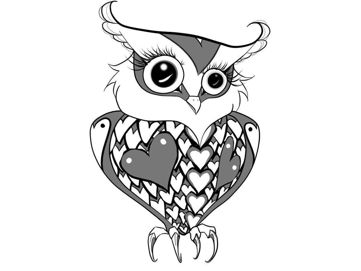 Картинки совы прикольные для тату, изображением ангелочков картинки