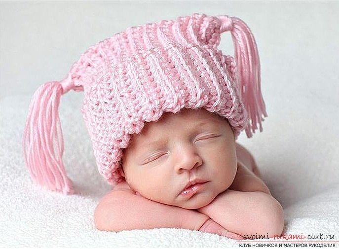 Как связать шапочку спицами для малышей