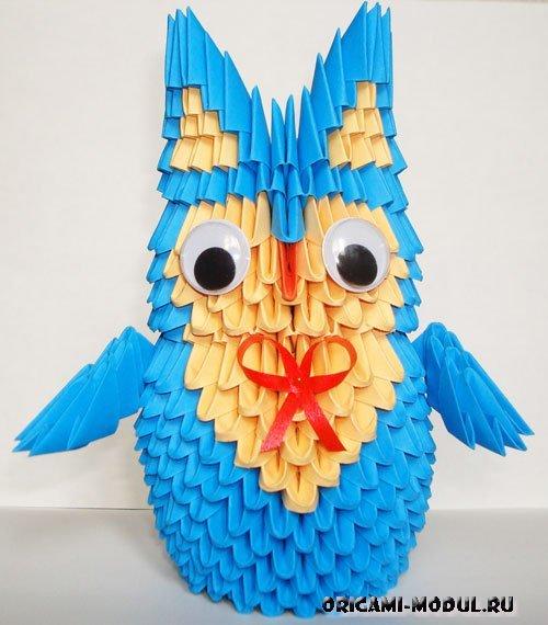 Схема модульного оригами сова 822