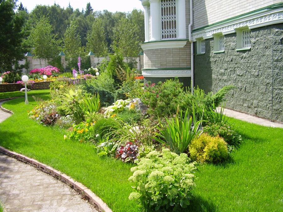 Дизайн цветников и газонов фото построить карьеру