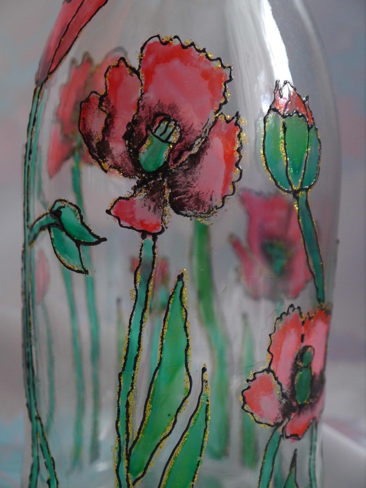 Витражные картинки для вазы