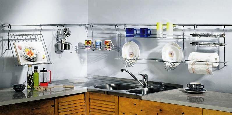 Как расположить рейлинги на кухне - установка 44