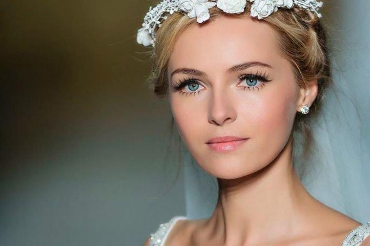 Свадебный макияж для голубых глаз и русых волос - свадебный макияж для голубых глаз