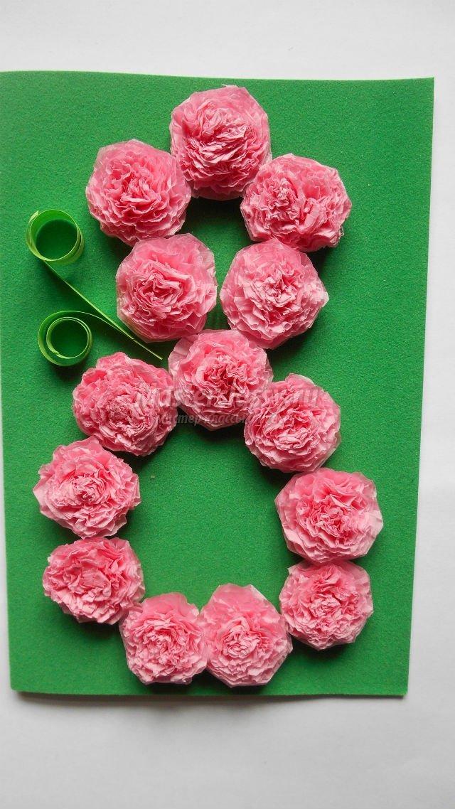 Годовщиной свадьбы, цветы из салфеток своими руками для открыток