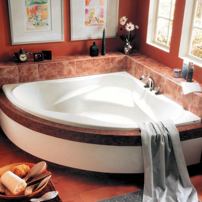 Интерьер с угловыми ваннами фото