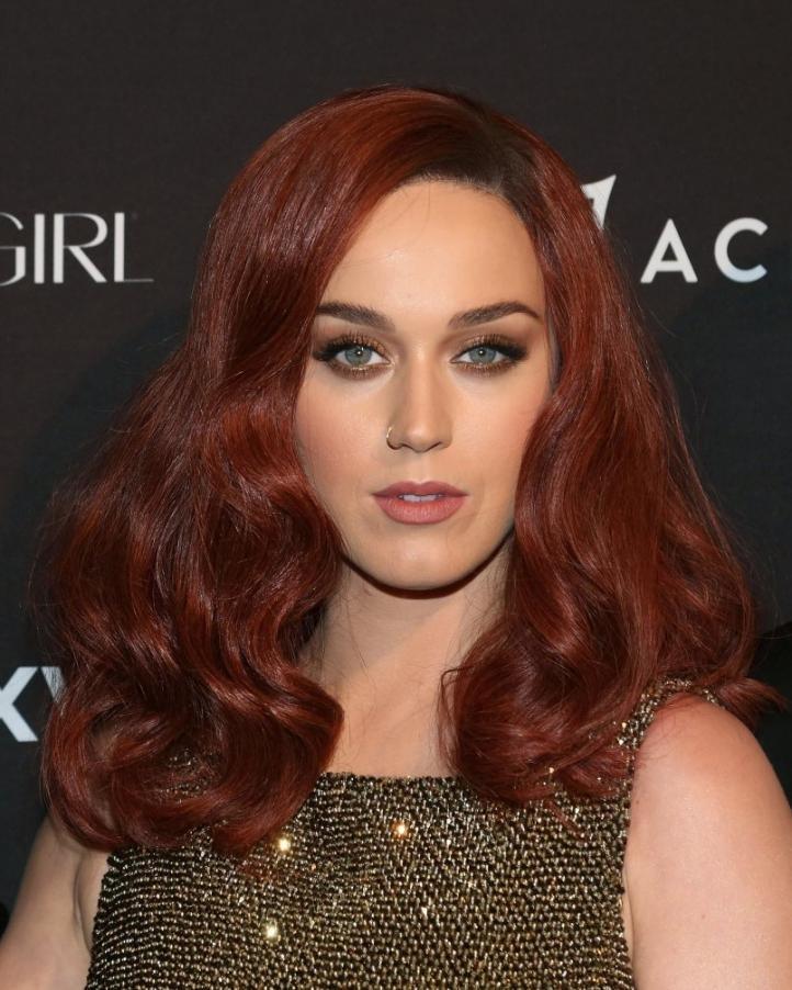 Рыжий темный цвет волос фото