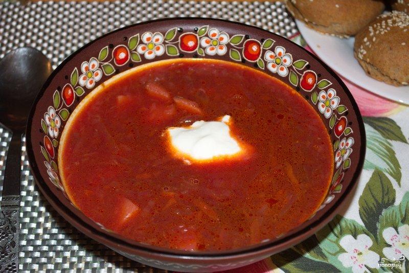 Самый вкусный борщ рецепт с фото пошагово
