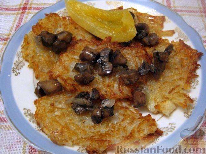 Драники из картофеля с грибами рецепт