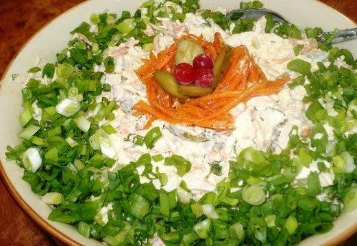 Быстрый и легкий салат рецепт пошагово в домашних условиях