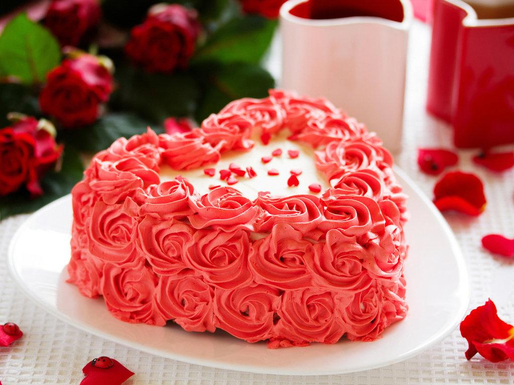 Сделать, открытки с днем рождения торт с розами