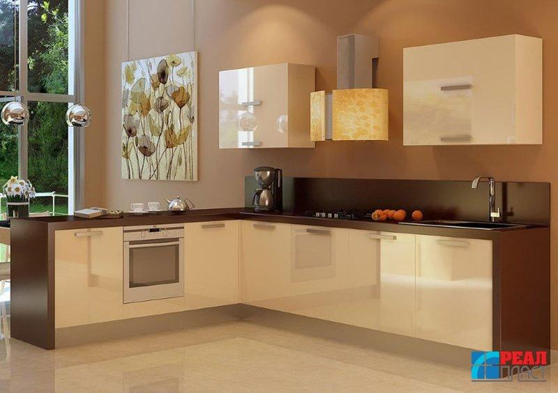 Дизайн кухни в стили хай тек